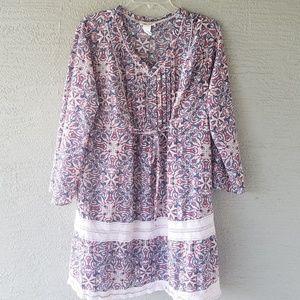 Mimi Chica Boho Tassel Tie  Dress XXL